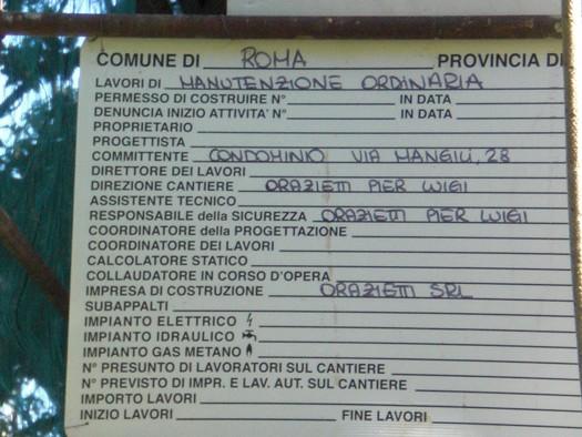 Lavori ORAZIETTI - Via Mangilli